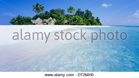 tropical island of bathala, ari atoll dhekunu gofi, republic of maldives, asia - Stock Photo