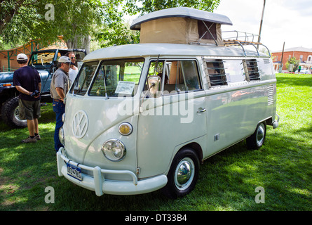 1967 Volkswagon Westfalia Camper, Angel of Shavano Car Show, fund raiser for Chaffee County Search & Rescue South, - Stock Photo
