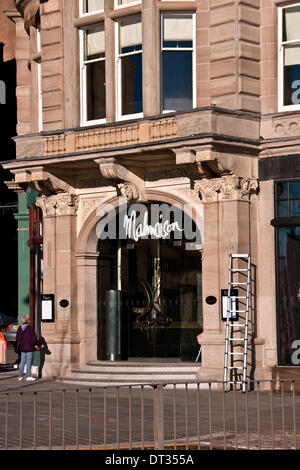 Dundee, Scotland, UK. 7th February, 2014. The Malmaison is a French Style luxurious and exclusive Hotel formally - Stock Photo