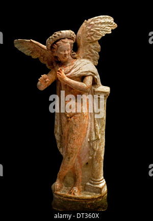 Toy of Eros (the love god playing instruments held once a fleet in the hands 100=50 BC Greek roman - Stock Photo