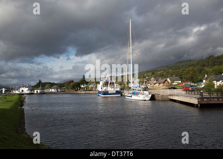 Corpach the entrance to the Caledonian Canal, Fort William, Scotland - Stock Photo