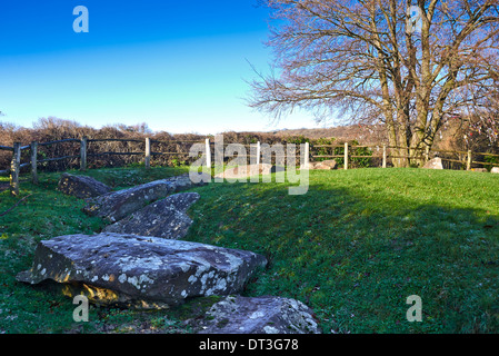 The Coldrum Long Barrow, also known as the Coldrum Stones, are the remains of a chambered long barrow - Stock Photo