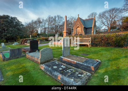 A cemetery in Brighton, East Sussex, UK. - Stock Photo
