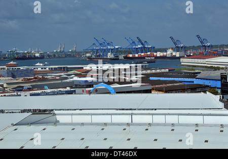 warehouses Zona Libre de Colon Panama - Stock Photo