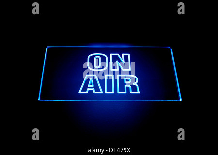On air signal in a broadcasting studio - Stock Photo
