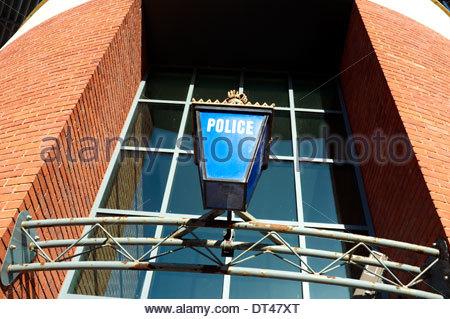 Worcester Police Station, in Castle Street, Worcester, UK. - Stock Photo