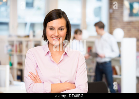 cute Female business start-up colleagues background - Stock Photo