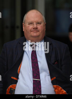 London, UK, 9th February 2014. Eric Pickles MP, Secretary of State for Communities and Local Government seen at - Stock Photo