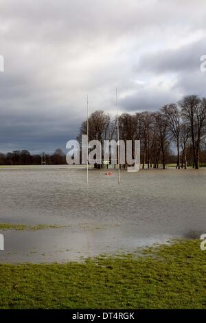 Home Park Windsor UK 9th Feb 2014 Flooded Rugby Pitches At