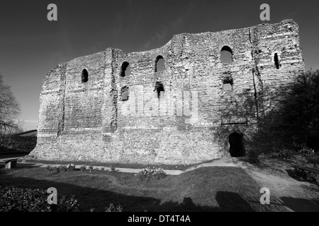 Spring view of Canterbury Castle Canterbury City Kent England. - Stock Photo