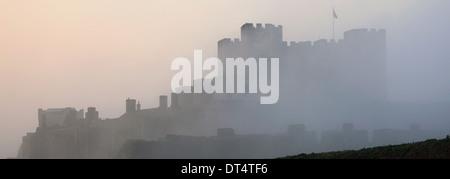 Spring Landscape Dover Castle; Dover; Kent; England - Stock Photo