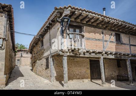 Medievall house in Calatañazor, Spain - Stock Photo