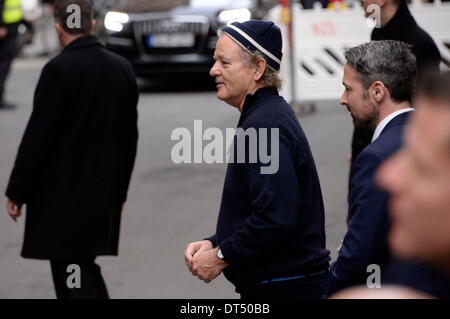 Berlin, Germany. 8th Feb, 2014. Bill Murray arrives at 'The Monuments Men' photocall at the 64th Berlin International - Stock Photo