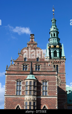 Tower of Frederiksborg Palace, built as a royal residence for King Christian 4th - Stock Photo