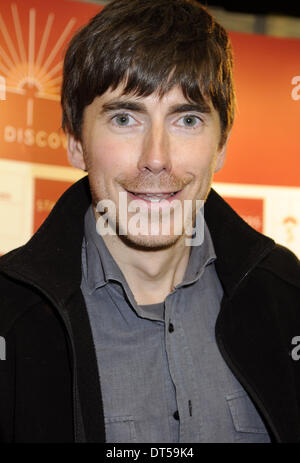 London, UK. 9th Feb, 2014. Simon Reeve at the Destinations - The Holiday & Travel Show at Earls Court, London on - Stock Photo