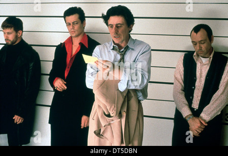 BENICIO DEL TORO, GABRIEL BYRNE, KEVIN SPACEY, THE USUAL SUSPECTS, 1995 - Stock Photo