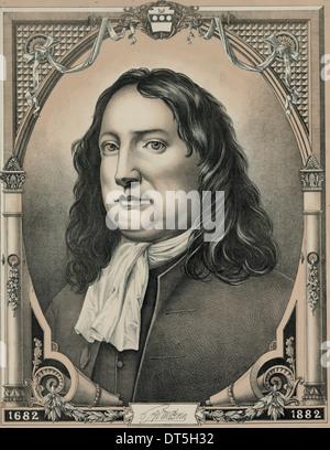 William Penn, entrepreneur, philosopher, Quaker, 1644 - 1718 - Stock Photo