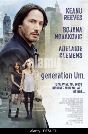 KEANU REEVES BOJANA NOVAKOVIC & ADELAIDE CLEMENS POSTER GENERATION UM... (2012) - Stock Photo