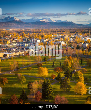 Downtown Anchorage in Alaska - Stock Photo