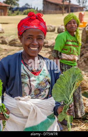 A Dorze Woman At The Thursday Market In The Village Of Hayto, near Arba Minch, Ethiopia - Stock Photo