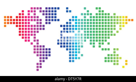 World map made of red dots stock photo 85599447 alamy multicolored dotted world map made of rounded rectangles stock photo gumiabroncs Choice Image