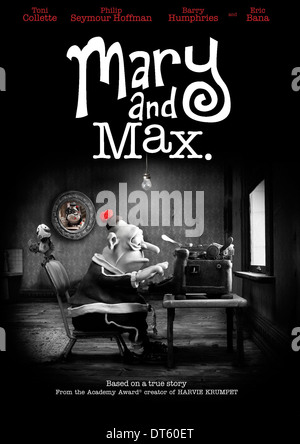 Mary Max Poster Mary And Max 2009 Stock Photo Alamy