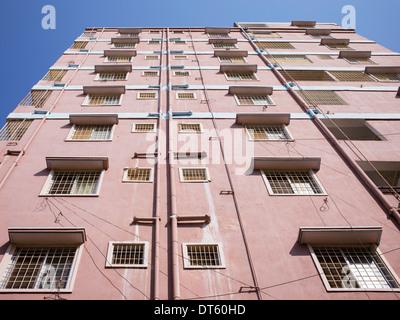 Indian town apartments. Puttaparthi, Andhra Pradesh, India