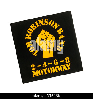 2-4-6-8 Motorway was a single by British punk rock / New Wave group Tom Robinson Band released in 1977. - Stock Photo