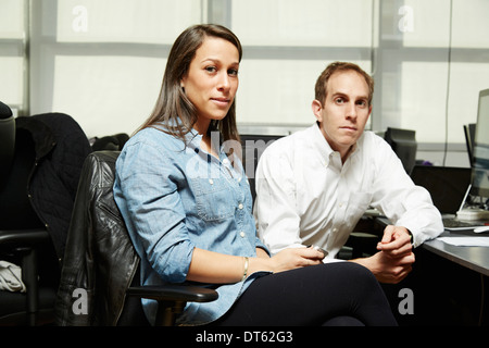 Portrait of colleagues in office - Stock Photo