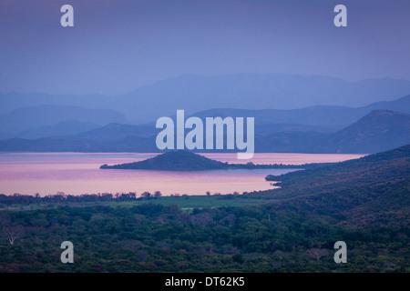 Lake Abaya and Views Towards Nechisar National Park, Arba Minch, Ethiopia - Stock Photo