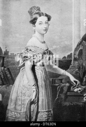 Queen Victoria a portrait in 1836 by F Winterhalter. From the archives of Press Portrait Service (formerly Press - Stock Photo