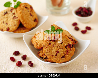 Cranberry cookies. Recipe available. - Stock Photo