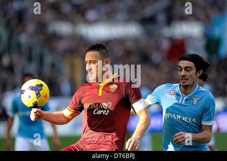 Rome, Italy. 10th Feb, 2014. Rome, Italy - 9th Feb, 2014. Francesco Totti during.Football / Soccer : Italian Serie - Stock Photo