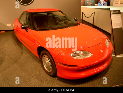 General Motors EV1 rare survivor at the Petersen museum - the successful electric car which was then recalled and - Stock Photo