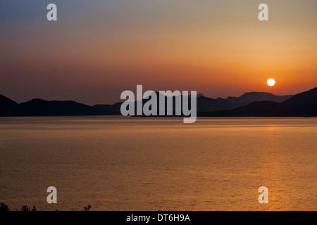 Sunset near Dubrovnic - Stock Photo
