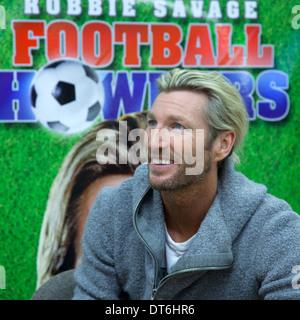 Robbie Savage Welsh Celebrity  Footballer and Football Pundit at Asda Derby - Stock Photo