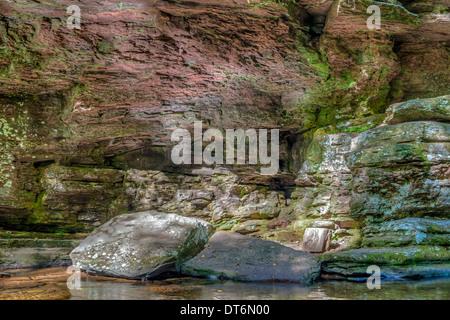 Ricketts Glen harbors Glens Natural Area, a National Natural Landmark, Adams falls - Stock Photo
