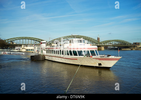 KD Loreley, Rhine river cruise liner, Cologne, Germany. - Stock Photo