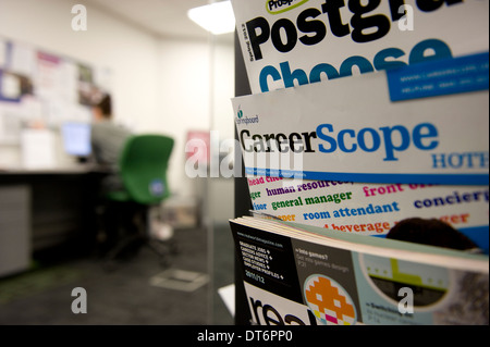 A college careers office. - Stock Photo