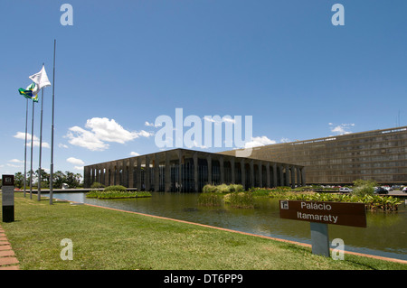 itamaraty Palace is the Ministry of External Relations ( Ministerio das Relacoes Exteriores) in Brasilia,Brazil - Stock Photo