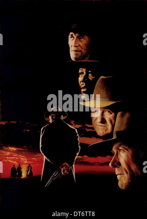 MORGAN FREEMAN GENE HACKMAN & CLINT EASTWOOD UNFORGIVEN (1992) - Stock Photo