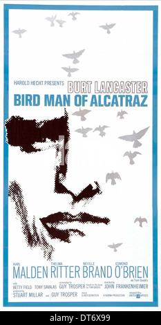 FILM POSTER BIRDMAN OF ALCATRAZ (1962) - Stock Photo