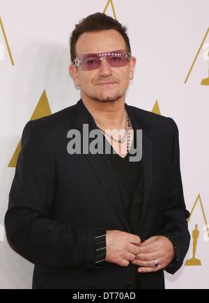 Beverly Hills, California, USA. 10th Feb, 2014. Bono at arrivals for Academy of Motion Picture Arts and Sciences - Stock Photo