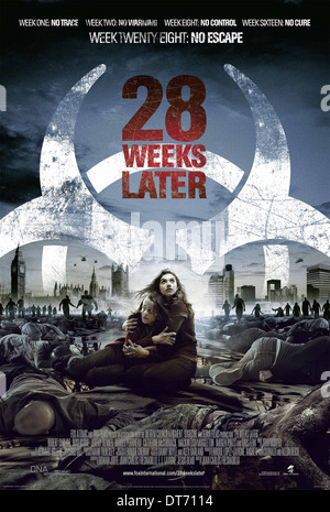 movie poster 28 weeks later 2007 stock photo 96973905