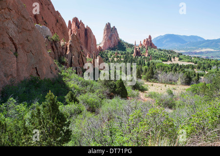 Garden of the Gods in Colorado Springs, Colorado - Stock Photo