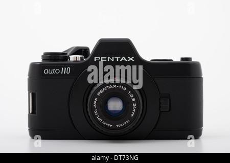 Pentax auto 110 film SLR camera using compact 110 film