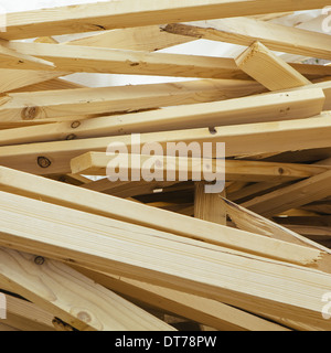 Pile of wood 2x4 studs used for construction, near Pullman - Stock Photo