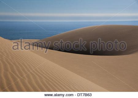 Sand dunes near the Atlantic coastline of the Namib-Naukluft National Park Namibia Namib-Naukluft National Park - Stock Photo