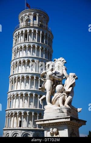 Pisa Leaning tower, Tuscany Italy - Stock Photo