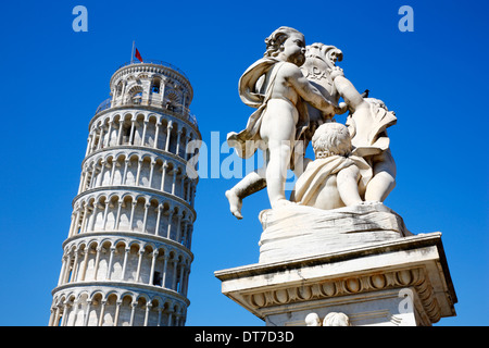 Pisa Leaning tower, Tuscany Italy - Stock Photo
